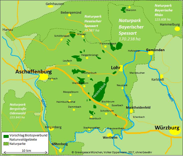 Naturwaldflächen gefordert für Spessart